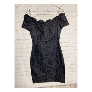 Vintage 90s Black All That Jazz Cocktail dress